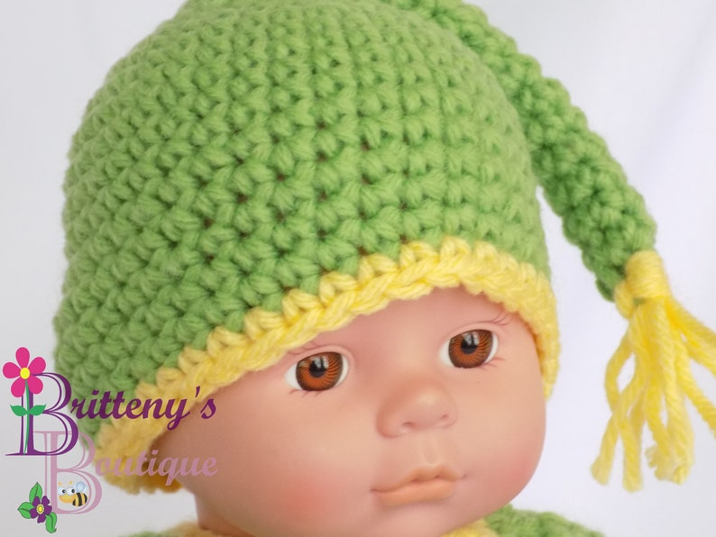 Baby Doll Green Night Cap and Shirt Set image 0