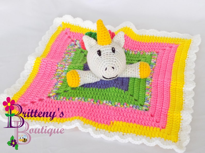 Amigurumi Unicorn Plush Unicorn Blanket Rainbow Unicorn Baby image 0