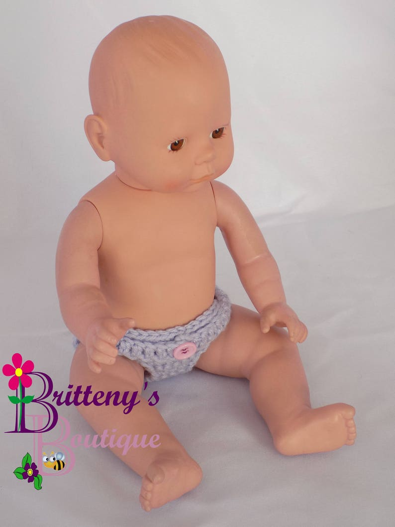 Baby Doll Clothes Crochet Baby Doll Diaper Set Crochet Baby image 0