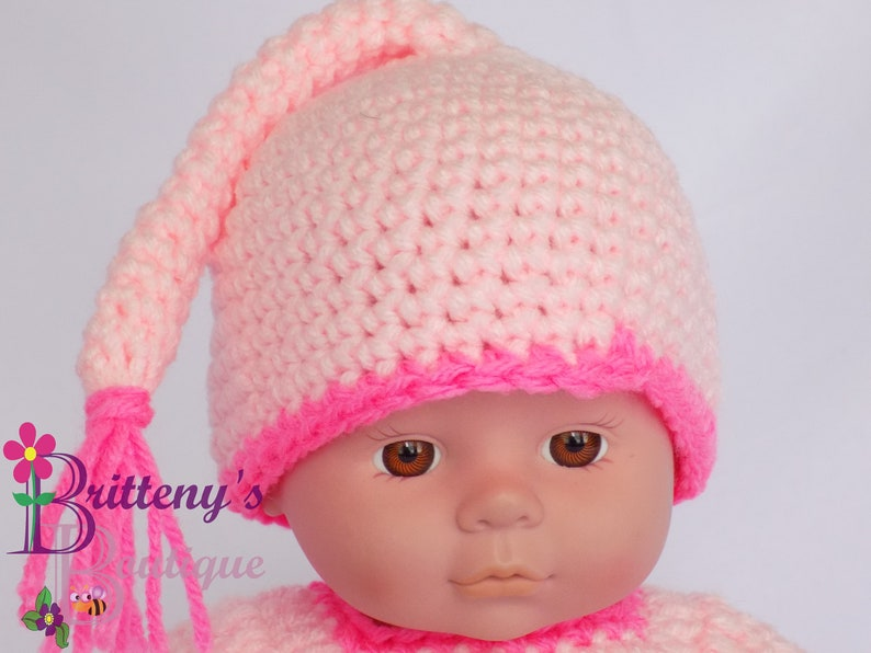 Baby Doll Pink Night Cap and Shirt with Yellow Star Set image 0