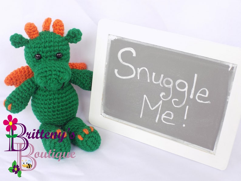 Amigurumi Dragon Stuffed Animal Dragon Amigurumi Plush Dragon Green