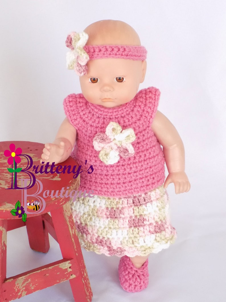 Baby Doll Clothes  Crochet Baby Doll Clothes Set Crochet Baby image 0