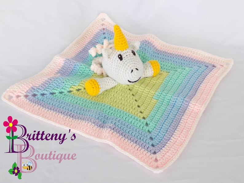 Baby Unicorn Security Blanket Unicorn Girl Lovey Blanket Baby image 0