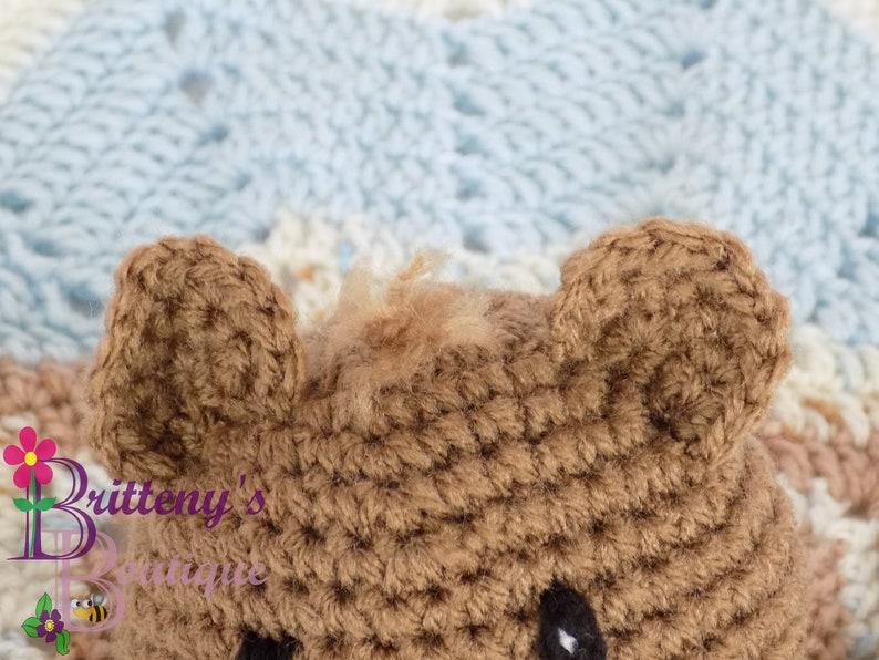 Snuggle Bear and Blanket | Patterns | - Hobbii.com | 596x794