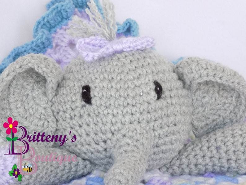 Elephant Girl Baby Lovey Lovy Elephant Security Blanket Small image 0