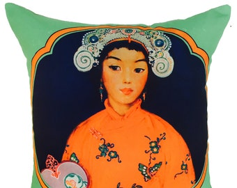 chinese girl cushion ON SALE