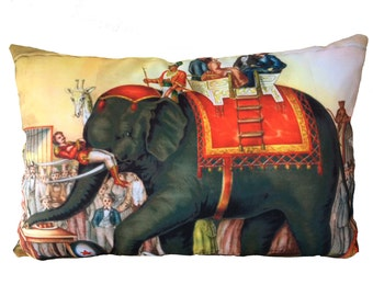 performing elephants  cushion ON SALE