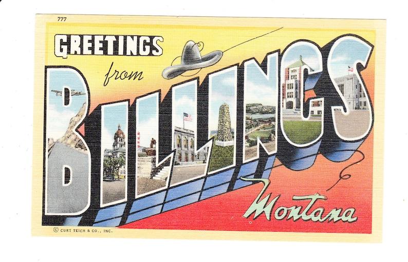 unused Louis Missouri Vintage Large Letter Postcard Greetings from St