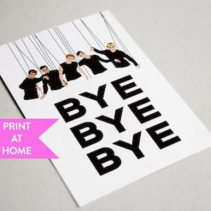 Funny goodbye card etsy nsync bye bye bye funny digital printable card leaving card goodbye card farewell card leaving gift print at home m4hsunfo