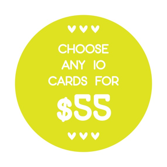 Choose Any 10 Cards Bulk Funny Greeting