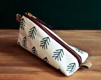 HOME WORK Design Pencil Case with Tree Pattern