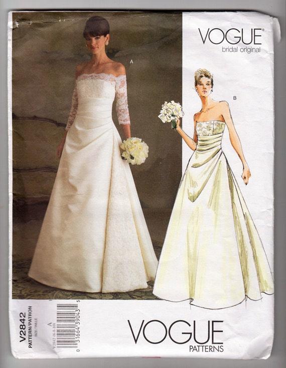 2000er Jahre ungeschnitten FF Vogue 2842 Front drapieren   Etsy