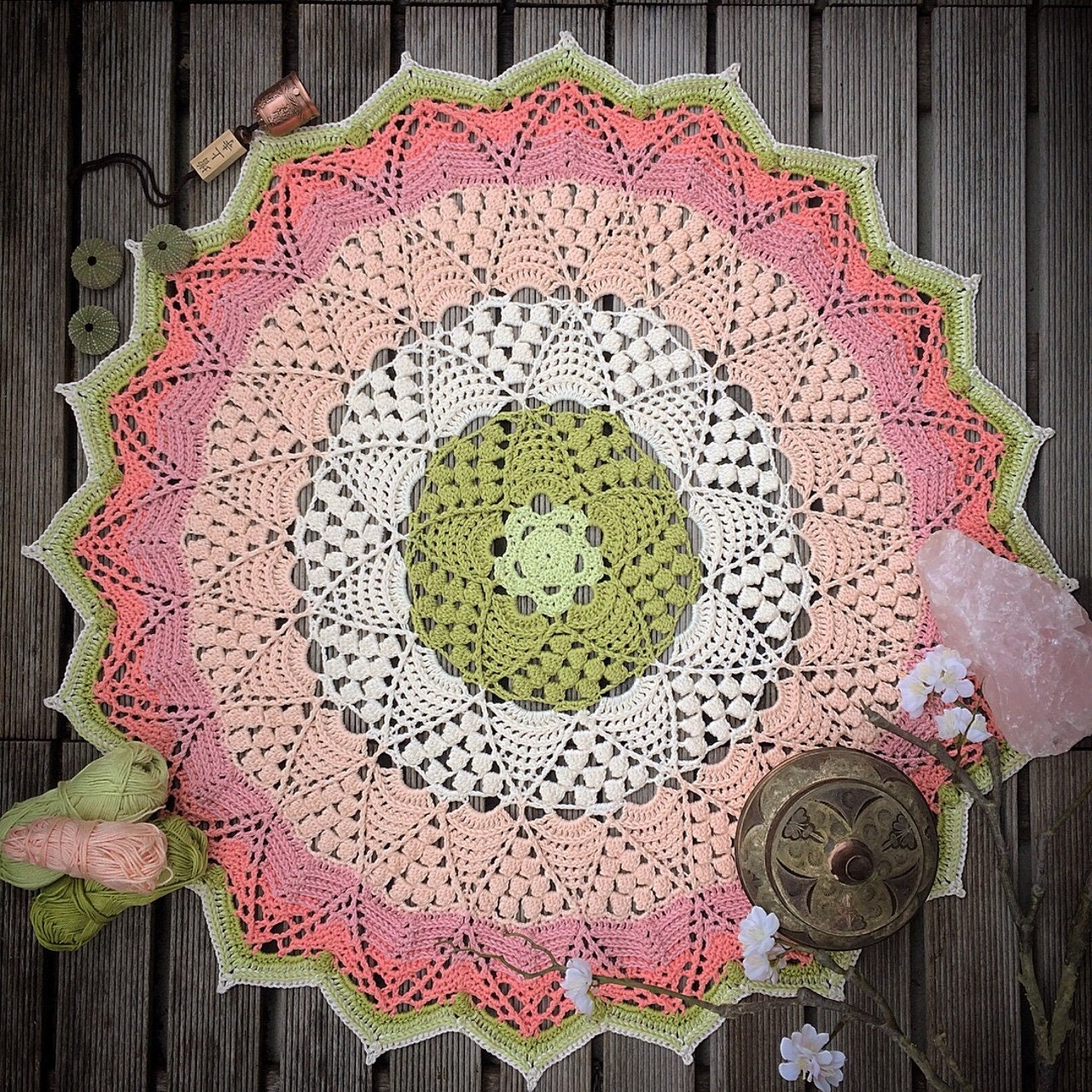 Lotus Blossom Mandala Crochet Pattern Etsy