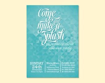 Pool Party Printable Invitation