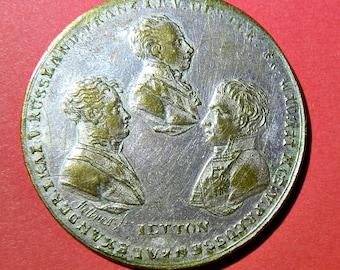 ENTRÉE DES ALLIÉS à Paris. Allied forces occupy Paris 1814 ietton by Stettner.