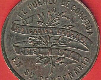 Argentina 1891 Centenary Of The Birth Of Brigadier General Jose Maria Paz