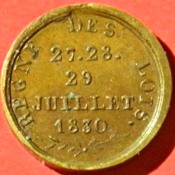 Extremely Small French Revolutionary Medal Louis-Philippe 1er Roi Des  Francais  July 1830