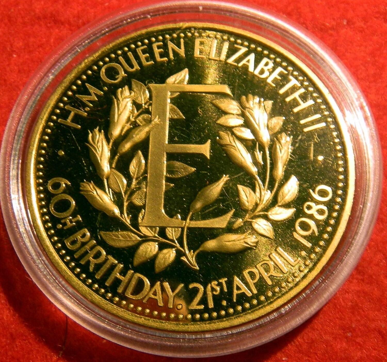 Birmingham Mint Encapsulated Queen Elizabeth 60th Birthday
