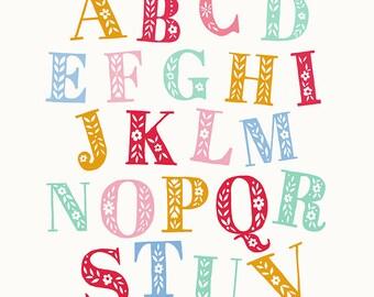 Colourful Alphabet Print