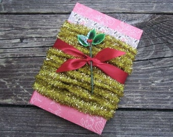 Mini Gold Tinsel Chenille Trim Package of Five yards Tinsel Trim