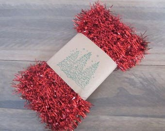 Old Fashioned Tinsel Trim Vintage Style Red Tinsel Garland Trim Craft Trim Craft Accent