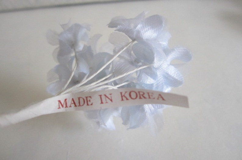 Vintage Hollyhock Millinery Bunch White Vintage Flowers Floral Crafts Wedding Showers