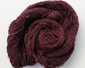 SALE - Dark Heart - Superwash Merino / Tweed Nep 4-Ply Sock Yarn