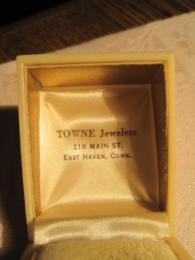 antique  vintage DECO ring box,..logo of Ohio.....