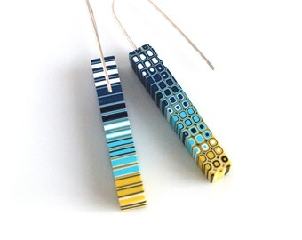 Geometric earrings Dangle earrings Modern earrings Geometric jewellery Contemporary jewelry Minimalist earrings Geometric jewellery