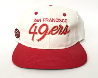 b20d01f2a Vintage 80s 90s San Francisco 49ers NFL Script by Sports Specialties  Snapback Hat