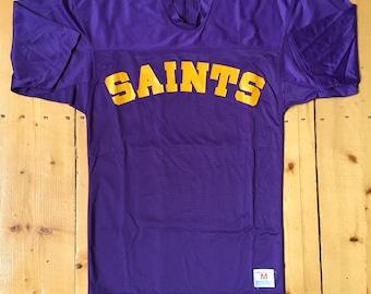 5e522d93f Vintage 1980s Champion Products Inc Purple Nylon Mesh SAINTS Jersey - Fits  Medium