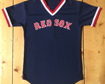 3aabe487 Vintage 80s 90s Boston Red Sox MLB Majestic Jersey Tee Poly Tshirt - Made  in USA - Fits Medium