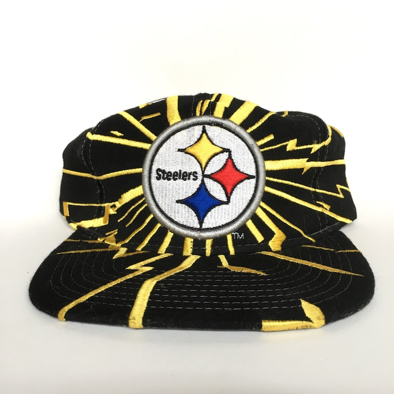 c585e659c7481 Vintage 90s Pittsburgh Steelers NFL Starter Shockwave Snapback