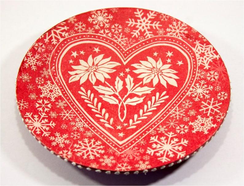 Wedding ring holder Wedding ring dish wooden wood Wedding ring plate red Wedding gift heart
