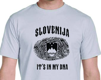 Slovenia Its In My DNA Mens Shirt