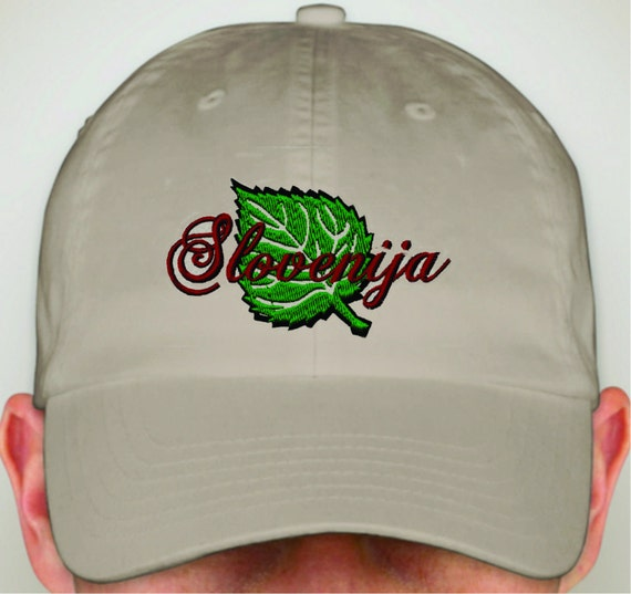 Slovenia Hat Embroidered with Lipa Leaf  602d1d85f820