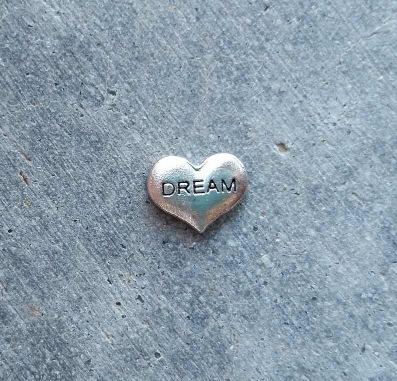 Floating Charm For Glass Memory Lockets Dream Heart image 0