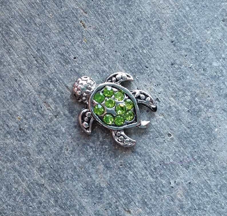 Floating Charm For Glass Memory Lockets Green Crystal Sea image 0
