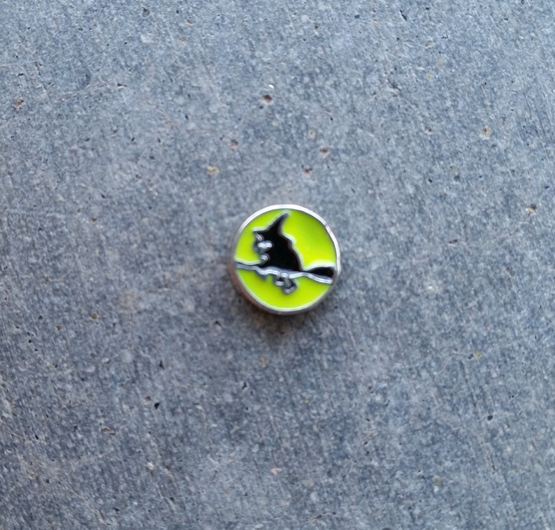 Floating Charm For Glass Memory Lockets Witch image 0