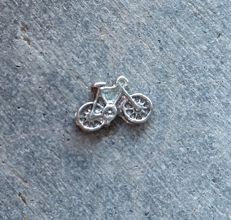 Floating Charm For Glass Memory Lockets Bicycle image 0