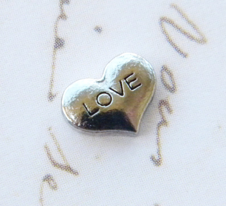 Floating Charm For Glass Memory Lockets Love Heart image 0