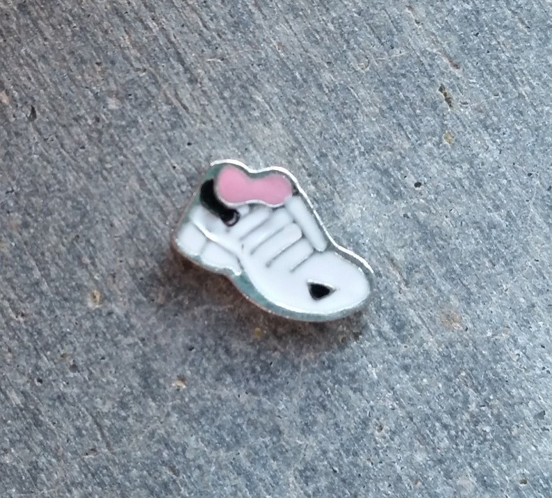 Floating Charm For Glass Memory Lockets Running Shoe image 0