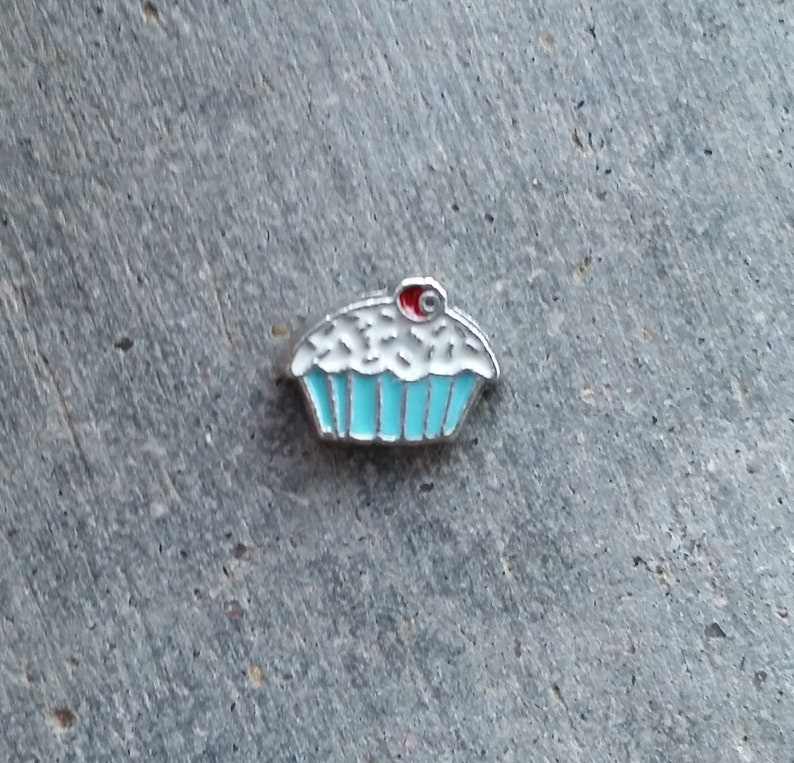Floating Charm For Glass Memory Lockets Cupcake image 0