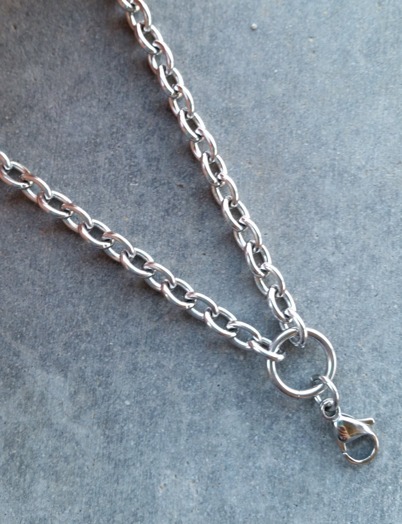 Stainless Steel Chain for Glass Memory Lockets 20 Oval image 0