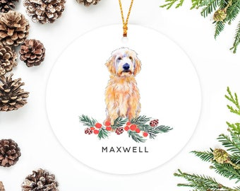 labradoodle ornament personalized christmas ornament dog gift goldendoodle ornament