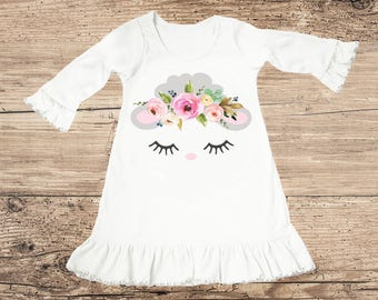 Easter Dress with Lamb and Flower Crown