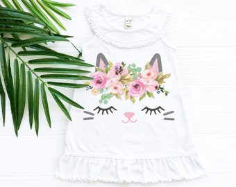 Cat Dress with Ruffles