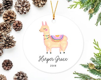 llama christmas ornament personalized baby ornaments - Llama Christmas Decoration
