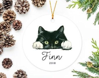 tuxedo cat ornament black cat christmas gift - Black Cat Christmas Tree