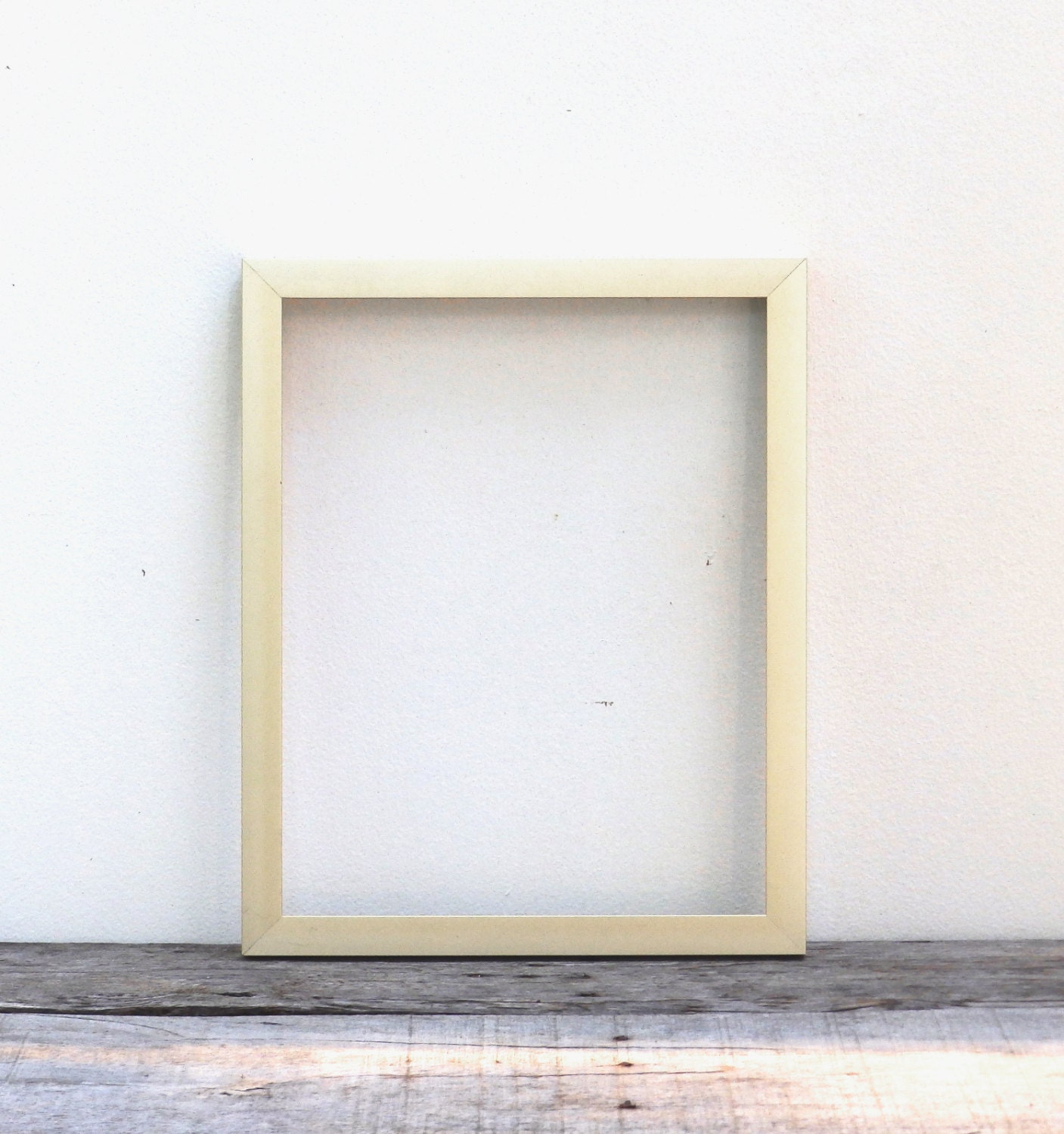 11x14 Simple Modern Gold Finish Picture Frame Brushed Light Etsy